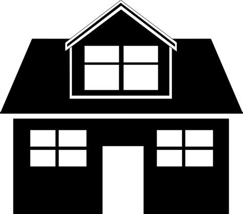 home icon black and white black home house 183 free vector graphic on pixabay