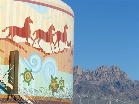 las cruces water tank murals exploring  mexico