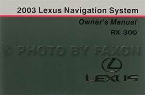 2003 Lexus Rx 300 Wiring Diagram Manual Original