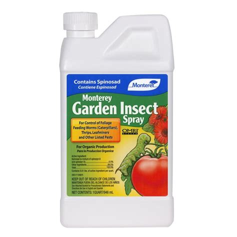 bug spray plants monterey garden insect spray with spinosad lg6135 the home depot