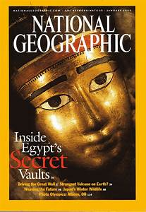 Back issue of National Geographic January 2003 Inside ...