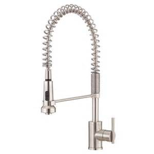 Best Kitchen Pulldown Faucet Shop Danze Parma Stainless Steel 1 Handle Pre Rinse Kitchen Faucet At Lowes