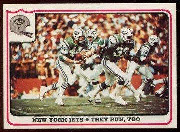 New York Jets - They Run, Too 1976 Fleer Team Action ...
