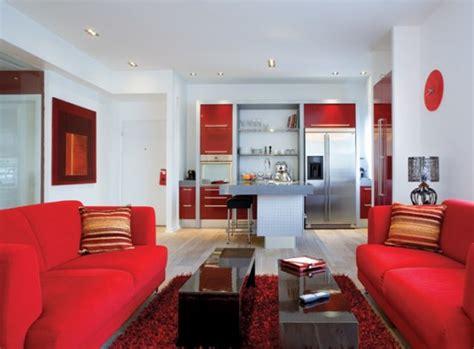 red white apartment interior decor digsdigs
