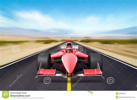 formula race red car stock illustration image  racecar