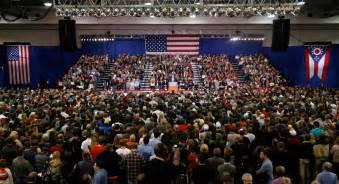 rally trump crowd ohio politico ap donald magazine trumprally thayer