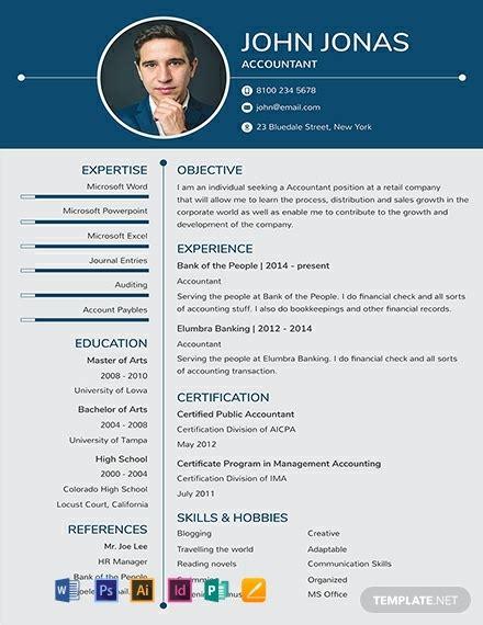 photo resume templates  ready