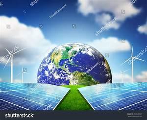 Clean Energy Concept Beautiful Sky Energy Stock Photo ...