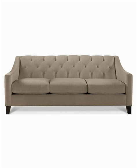 chloe velvet tufted sofa