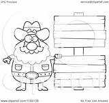 Wood Clipart Blank Signs Prospector Cartoon Coloring Plump Cory Thoman Outlined Vector 2021 sketch template