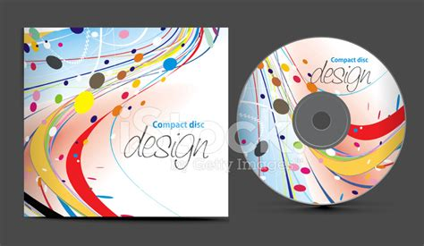 free cd cover cd cover design stock vector freeimages