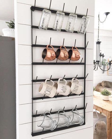 Pegboard mounted coffee cup holder. Coffee mug holder for the wall. | Shiplap wall diy ...