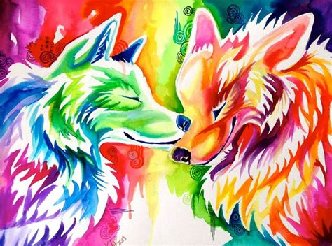 Anime Rainbow Wolf Wallpaper by 1000 Images About Wolves On Wolves