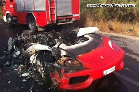 bugatti eb110 crash ferrari 360 spider wrecked valencia spain