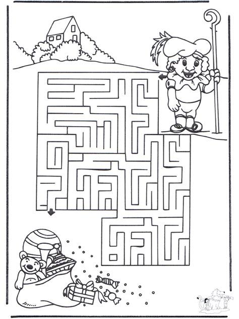 labyrinth sankt nikolaus basteln labyrinth