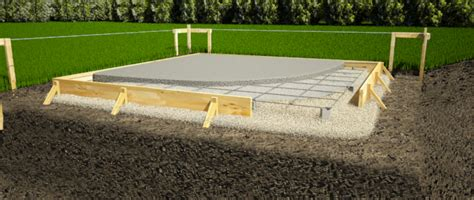 concrete slab for shed base design and build a foundation for your storage shed 1
