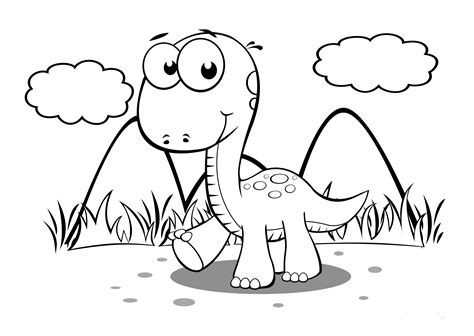 baby dinosaur coloring pages  preschoolers activity shelter