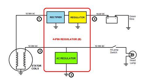 wiring diagram for motorcycle rectifier understanding motorcycle voltage regulator wiring homemade circuit projects