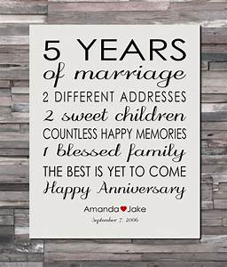 anniversary gift print 5 year wedding 5th anniversary With 5 year wedding anniversary ideas