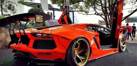 Modifikasi Lamborghini Aventador by Modifikasi Lamborghini Aventador Liberty Walk Buat