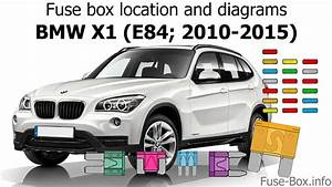 Fuse Box Location And Diagrams  Bmw X1  E84  2010-2015