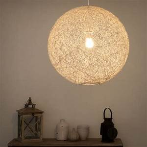 Suspension Boule Blanche : suspension boule en rotin blanche d 60 cm nubia for the ~ Teatrodelosmanantiales.com Idées de Décoration