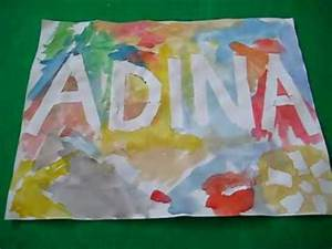 arts crafts activity name posters using masking tape With masking letters for painting