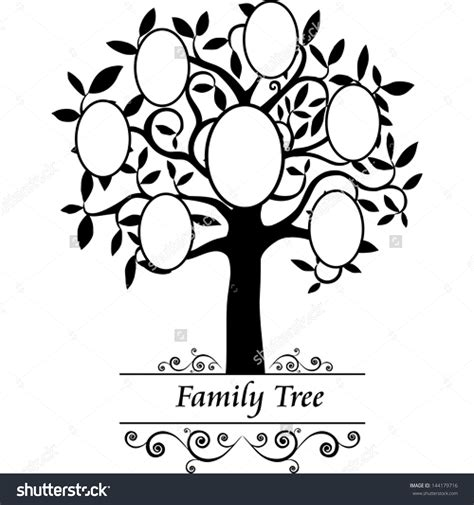 Tree Template Black And White by Black And White Family Tree Clipart Www Pixshark