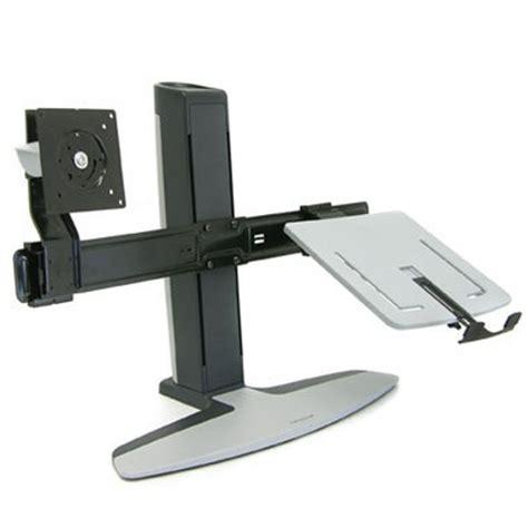 support ordinateur portable bureau ergotron neo flex combo bras pied ergotron sur ldlc
