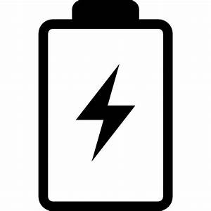Battery With A Bolt Symbol