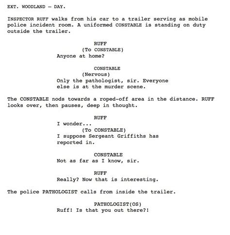 Tv Script Template For Pages by 12 Best Photos Of Sle Script Format Script Writing
