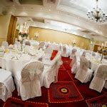 linen chair covers with organza sash in newcastle and