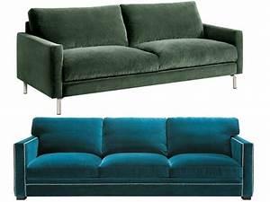 Canapé D Angle Vert : canap en velours entre vert et bleu notre c ur balance joli place ~ Teatrodelosmanantiales.com Idées de Décoration