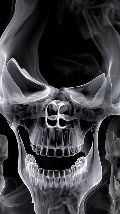 Skull Wallpapers Smoke Iphone Skeleton Ghost Gost