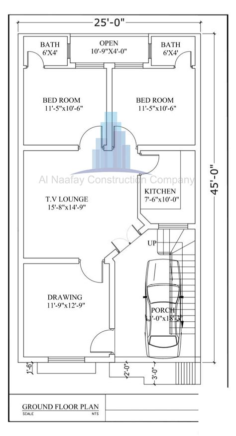 marla house design plan maps  elevation   drawings