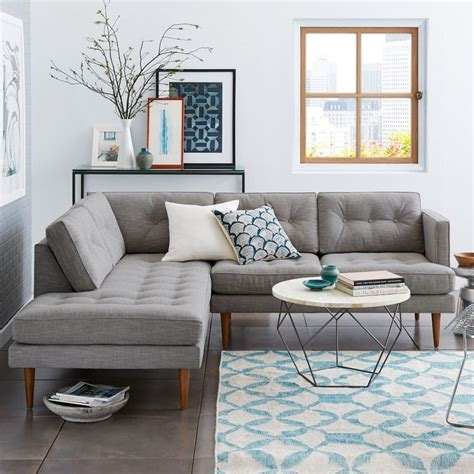 west elm peggy sofa peggy mid century terminal chaise sectional west elm uk