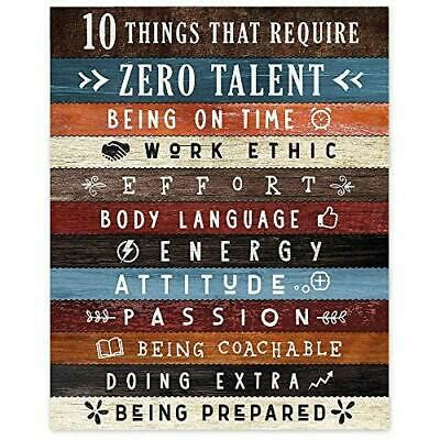 10 Things that Require Zero Talent Office Wall Art Poster, 1 Photo 8x10 | eBay