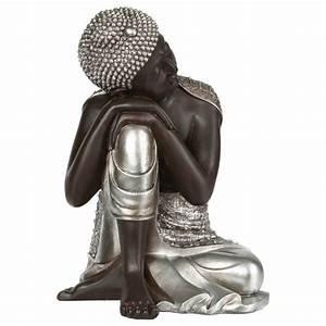 Statue Bouddha Interieur : statue d co bouddha 35cm ~ Teatrodelosmanantiales.com Idées de Décoration