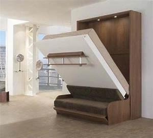 Lit Armoire Escamotable : meuble lit relevable escamotable ~ Dode.kayakingforconservation.com Idées de Décoration