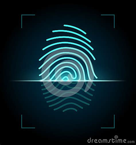 fingerprint scanner illustration stock photography image
