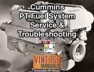Cummins Pt Fuel System Service  U0026 Troubleshooting Manual
