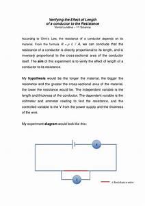 An Experiment To Verify Ohm U0026 39 S Law