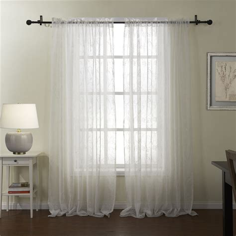 country embroidery crafts floral sheer curtains for bedrooms