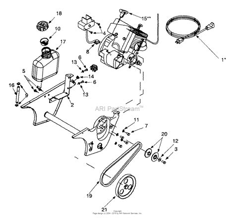 mtd ae   parts diagram  drive  fuel tank