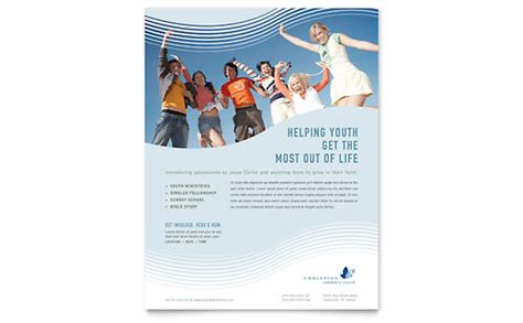 evangelical christian church leaflet templates graphic
