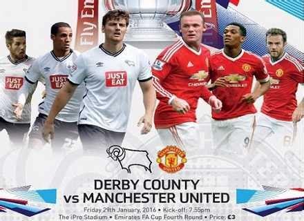 Resultado: Derby County 1-3 Manchester United Hora y Canal ...