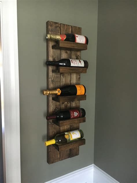 wall hanging wine rack rustic wine rack spice rack wall mounted wine bottle holder