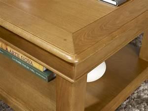 table basse carree 80x80 en chene de style louis philippe With meuble 80x80