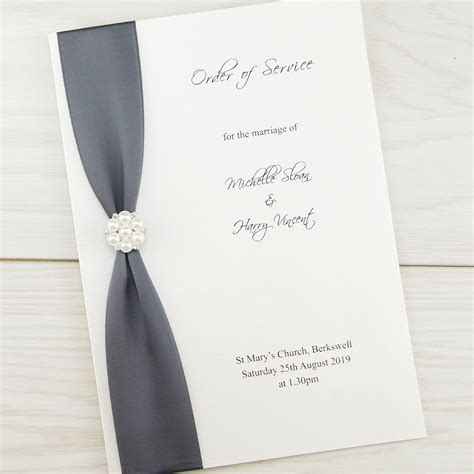 order of service cluster order of service invitation wedding invites
