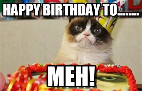 Birthday Grumpy Cat Meme - happy birthday grumpy cat meme